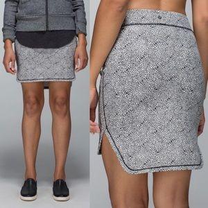 Lululemon City Skirt Plush Petal Deep Coal Ghost 8